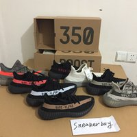Wholesale With Original Box boost V2 Belgua Copper Olive Green Black Red Glow in dark SPLY V2 season New kanye west Running shoes