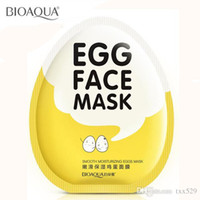 beauty face shop - Bioaqua face care Eggs face mask Moist hydrating shrink pore brightens whitening skin care facial mask sheet beauty cosmetics Free shopping