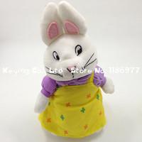 al por mayor pascua libre de los juguetes de peluche-El bebé al por mayor-Ruby y Max Bunny Rabbit de Pascua rellenó el juguete suave Ty 7.5