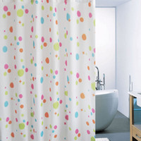 Wholesale The color dots printed shower curtain