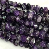 amethyst nugget beads - Natural Genuine Purple Amethyst Crystal Quartz Hand Cut Faceted Nugget Free Form Loose Big Beads quot