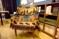 Wholesale Afghans Tapestry throw wall hangings Moose geometric rugs blanket art decor woven cotton table cloth Nordic