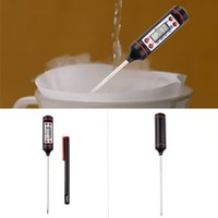 Wholesale Accurate Kitchen BBQ Digital Probe Electronic Thermometer Barbecue Food Cooking Termometro Temperature Measuring Tool Pen Cap
