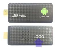 al por mayor quad core smart tv dongle-10PCS por encargo MK809 del patio de la base TV del palillo de la caja de la TV del jugador de medios Google Android 5.1 RK3229 2GB RAM 8GB WIFI Bluetooth 1080P HDMI Smart TV Dongle