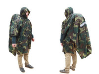 bicycle safety camp - Outdoor climbing backpack raincoat Riding night safety Cycling Bicycle adult poncho Camouflage multi function triple raincoat Rainwear