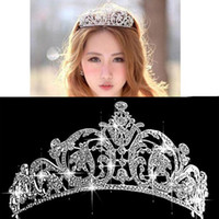Wholesale High quality Crystal Tiara Bridal Hair Accessories For Wedding Tiaras Crowns For Brides Hair Jewelry Headpiece