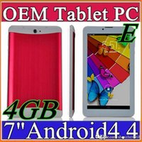 E SH 2015 bon marché 7 pouces 3G Phablet Android 4.4 MTK6572 Dual Core 4 Go Dual SIM Téléphone GPS WIFI Tablet PC avec Bluetooth EBOOK B-7PB