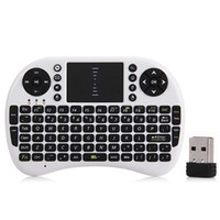 Wholesale M2S GHz Wireless QWERTY Keyboard m Operation Range Portable Wifi Air Mouse Keyboard Combo with Receiver PK I8 Touchpad