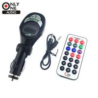 Wholesale New High Quality Fashion Black Car MP3 Player FM Transmitter USB Pen Drive For SD MMC Slot Card