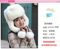 Wholesale Ear protection cap More femaleit rabb Mao Leifeng winter imitation fur cap hat fashion han edition of winter warm hat
