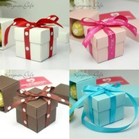 baby shower box - 50pcs Party Decoration Candy box Baby Shower Birthday Favors Candy Boxes Mini Single Cake Box Non personalised