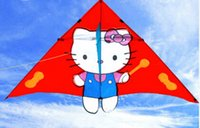 Wholesale Fei Yang weifang kite modern children s adult kt big triangle cartoon cat hello Kitty breeze easygroup kite