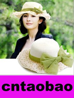 Wholesale 2017 New Summer Sun Hats For Women Girls Straw Hat Hot Sun Cap Fashionable With Flower Summer Beach Hats stingy Brim Floppy Cap colors