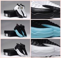 basketball ball games - 2017 New Air Retro XII TAXI Flu Game Playoff Shoes Men Basketball Shoes Sports Sneakers Retros s Basket Ball OVO White Gym Red Shoes us