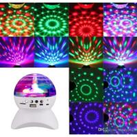 audio club speakers - Rotating Magic Ball speaker Light with Wireless Bluetooth Speaker Mini Card Slot Rotating For KTV Xmas Party Club Pub Disco DJ