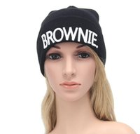 Beanie/Skull Cap army girlfriend - BLONDIE BROWNIE High quality Hot Sale Beanies girlfriend Women Gifts For Her Knitted hat Skullies Bonnet Winter Hats Brand