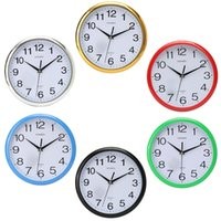 Wholesale Hot sales Large Vintage Round Modern Home Bedroom Retro Time Kitchen Wall Clock Quartz with Six Colors