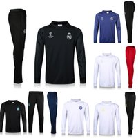 Wholesale Real Madrid training suits Champions League Chelsea Marseille football tracksuit thai quality set outdoor winter coat sportswear