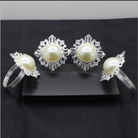 best metal tone - Clear Gem Napkin Ring Silver tone Metal Rings Best Quanlity Hotel Party Wedding Favor Favour Supplies DHL
