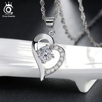 Pendant Necklaces beautiful slides - Beautiful Heart Necklace Precious Austria Crytal SWA Elements Sterling Silver on Layer Platinum Plating ON19