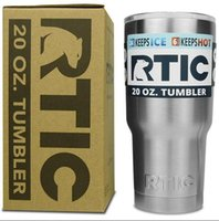 Wholesale RTIC Oz Stainless Steel Tumbler RTIC oz Tumbler rambler Camo Stainless Steel Tumbler Cup with lid DHL free