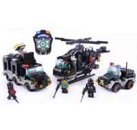 Wholesale Small ruban building blocks assembled series riot police in the toy boy likes puzzles to hold blocks from the postage