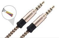 Acheter Vidéo composite mâle audio-Câble vidéo audio de 3,5 mm Mâle à mâle Quatre couleurs AUX Car 1m