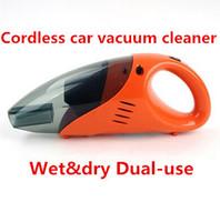 Wholesale high power car vacuum cleaner wet dry dual use cordless car vacuum cleaner V W Orange