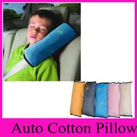 Wholesale Baby Auto Cotton Pillow Car Protect Shoulder Pad Seat Belt Cushions Safety Belt Protect Shoulder Pad adjust Vehicle Seat