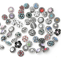Wholesale hot new style mm rhinestone snap button charm jewelry for unisex women and men snap jewerly ZM021