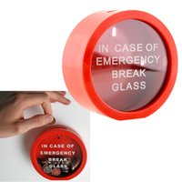 Wholesale Simple Safe Round Red Saving Bank In Case Of Emergency Coin Smash Gadget Piggy Bank For Kids