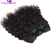 sew in hair extensions - Hot Sale Brazilian Wet Wavy Hair Weave Sew in Hair Extensions Big Curly Human Hair Weaving Cheap Wefts Natural Water Wave