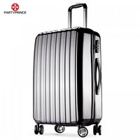 Wholesale zly08 PARTYPRINCE Classic and Size Wheel Upright Luggage Suitcase Polycarbonate and PP Dark Grey Colors