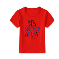 95% cotton 5% spandex big brother clothing - big brother at last t shirts children baby short sleeve t shirt shirts baby round neck clothes tops kids basic dress in summer bulk boutique