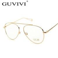 Vente en gros- 2016 GUVIVI Femmes Lunettes cadre Or Argent Noir Cadre Verres transparents Lunettes optiques Lunettes lunettes pour femmes GY-8276