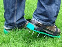 aerate lawn - Garden Tools Garden Cultivator One Pair Lawn Aerator Shoes with Metal Buckles and Straps for Aerating Your Lawn or Yard