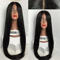 Wholesale 8A Silk Top Full Lace Wigs Indian Straight Glueless Silk Full Lace Human Hair Wigs For Black Women Silk Base Lace Front Wigs
