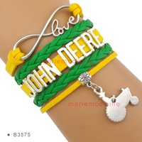 agricultural tractor - Pieces High Quality Infinity Love John Deere Agricultural Tractor for Farmer Wrap Bracelet Green Yellow Custom
