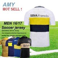 Wholesale DHL Boca Junior Soccer jerseys Home Away rd black Boca Junior Maillot de foot CARLITOS top thailand quality football shirt Uniforms