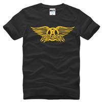 aerosmith shirt - New Summer Aerosmith T Shirts Men Cotton Short Sleeve Rock Band Men s T Shirt Fashion Male Hip Hop Rock Roll Top Tees Plus Size