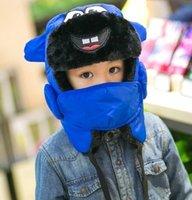 baby blue tab - Children in autumn and winter winter hat hat boy girl child baby warm winter cap cap cap tab Lei Feng