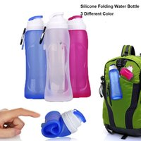 Wholesale New ML Creative Collapsible Foldable Silicone drink Sports Water Bottle Camping Travel my plastic bicycle bottle