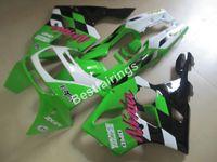 al por mayor zx6r 97-Kit de carenado de 7 regalos para Kawasaki Ninja ZX6R 1994-1997 carenado negro blanco verde ZX6R 94 95 96 97 OT25