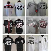 Wholesale 2016 Newest Chicago White Sox Michael Jordan Jersey Black Men s Throwback White Gray Baseball Jerseys fashion