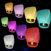 Sky Lanterns Chinese Paper Sky Candle Fire Balloons Birthday Wedding Party Pageant UFO Outdoor Holiday Lighting DHL Free WX-H10