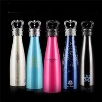 Wholesale Copy All joint Amathing Water Bottle Vacuum Flask Cup Sports Stainless Steel Cola Shape Mugs Vacuum Insulation Cups ml
