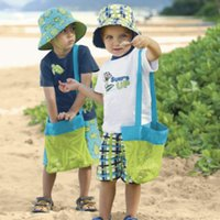 Wholesale Kids Sand Away Carry Beach Treasures Toys Pouch Tote Mesh Childrens Storage Bag