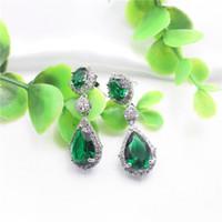 Wholesale Vintage Drop Earrings Water Crystal Earings Fashion Long Earrings For Women Gift Red Dangle Earring Trendy Brincos Jewelry