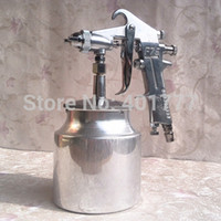 Wholesale manual spray gun Sprayer Air Brush Alloy Painting Paint Tool cc cup Automobile furniture wood mm