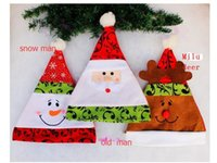 aa stamp - 2016 The latest hot Santa Claus Christmas hat non woven hot stamping applique snowman Christmas hat AA